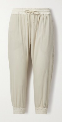 + NET SUSTAIN crinkled cotton-gauze track pants