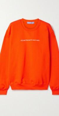 + NET SUSTAIN embroidered cotton-blend jersey sweatshirt