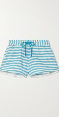 + NET SUSTAIN Hanna striped cotton-gauze shorts