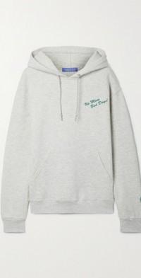 + NET SUSTAIN printed cotton-blend jersey hoodie