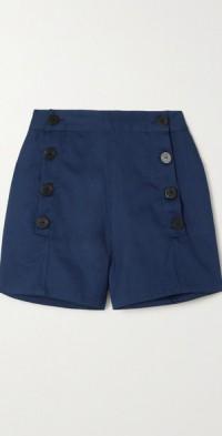 + NET SUSTAIN Sailor cotton-twill shorts