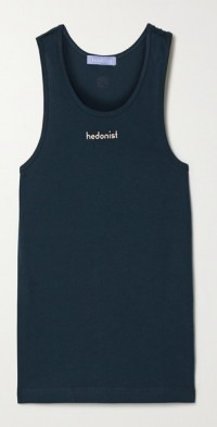 Hedonist printed cotton-jersey tank