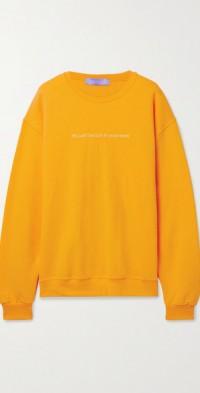 Sun In Eyes embroidered cotton-blend jersey sweatshirt