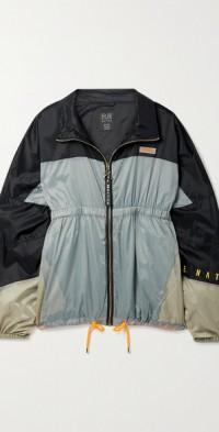 Set Match color-block ripstop jacket