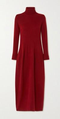 Aza cashmere and mulberry silk-blend turtleneck maxi dress