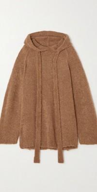 Ember oversized bouclé-knit hoodie