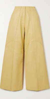 Gill leather wide-leg pants