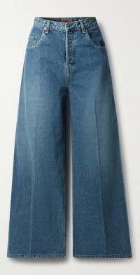 Ginger low-rise wide-leg jeans