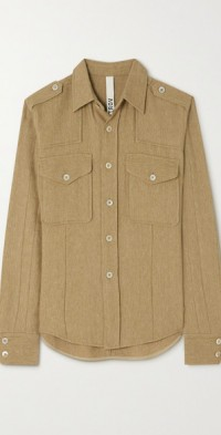 Lacole wool and linen-blend shirt