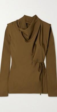 Lark draped crepe blouse