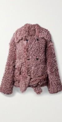 Mab belted shearling jacket