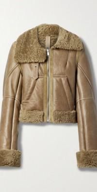 Magen suede-trimmed shearling jacket