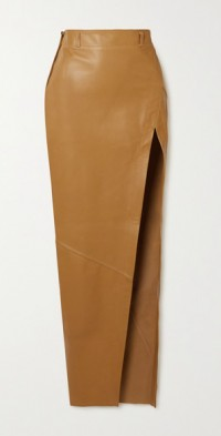 Ryan paneled leather maxi skirt