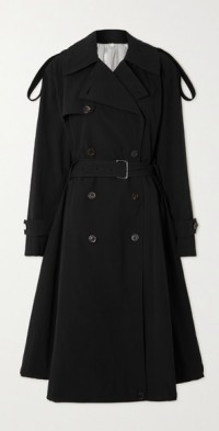 Cloud double-breasted crinkled cotton-blend trench coat