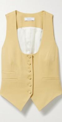 Nadia wool-blend twill vest
