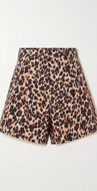 Sabi leopard-print cotton-blend shorts