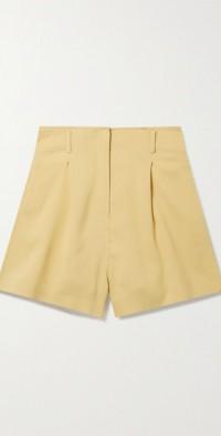 Sabi pleated wool-blend twill shorts