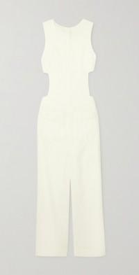 Senequier cutout linen-blend jumpsuit