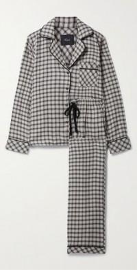 Clara checked flannel pajama set