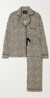 Clara leopard-print poplin pajama set