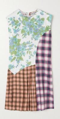 + NET SUSTAIN Avril patchwork cotton mini dress