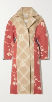 + NET SUSTAIN Sally patchwork printed wool coat