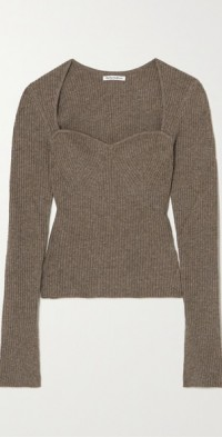 + NET SUSTAIN Glenna ribbed recycled cashmere-blend sweater