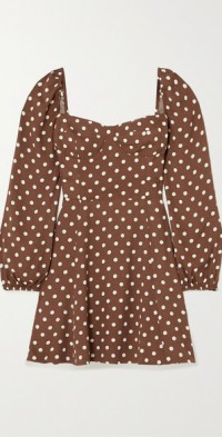 + NET SUSTAIN Mochi polka-dot crepe mini dress