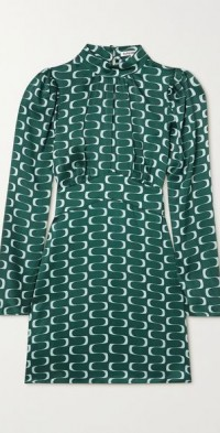 + NET SUSTAIN Samuel printed silk-satin mini dress