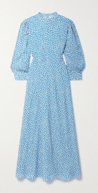 Chiara floral-print crepe de chine midi dress