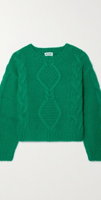 Darlene cable-knit wool-blend sweater