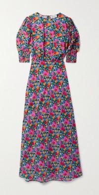 Lucile floral-print crepe de chine dress