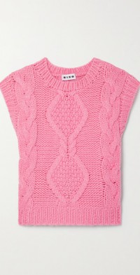 Renee cable-knit wool-blend tank