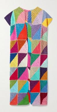 Crocheted cotton and Lurex vest