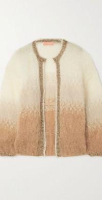 Lurex-trimmed mohair-blend cardigan
