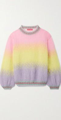 Lurex-trimmed mohair-blend sweater