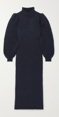 Belinda brushed knitted midi dress