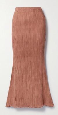 + NET SUSTAIN Abelia crinkled organic cotton-gauze midi skirt