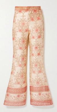 + NET SUSTAIN The Ahimsa printed silk-dupioni flared pants