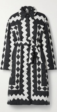 Helena belted quilted cotton coat