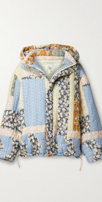 Sydney hooded patchwork quilted cotton jacket