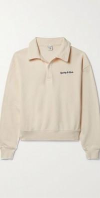 Embroidered cotton-jersey sweatshirt