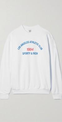 LA Athletic Club printed cotton-jersey sweatshirt