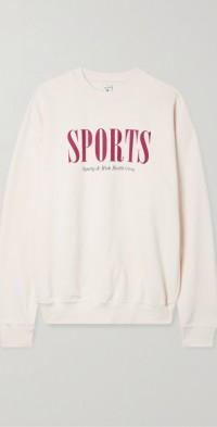 Sports printed cotton-jersey sweatshirt