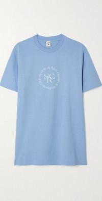 SRHWC printed cotton-jersey T-shirt