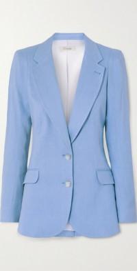 Sophia linen-blend blazer