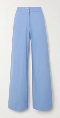 Sophia linen-blend wide-leg pants