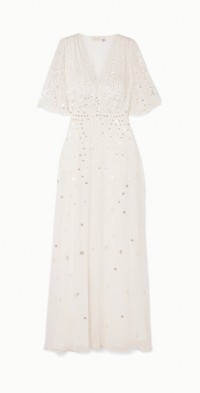 Topiary sequined chiffon gown