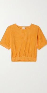 Capri cotton-terry top
