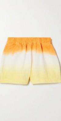 Estate ombré cotton-terry shorts
